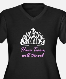 Have Tiara, Will Travel Women's Plus Size V-Neck D