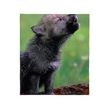Wolf Cub Throw Blanket