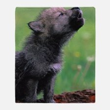 Wolf Cub Throw Blanket