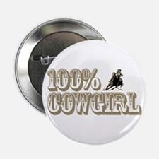 100% COWGIRL Button