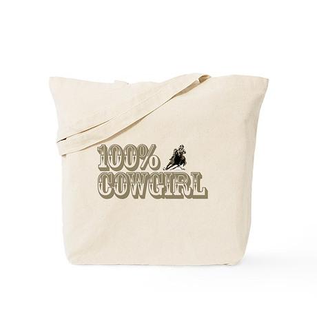 100% COWGIRL Tote Bag