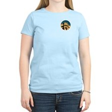 Women's Light Yellow T with Front and Back Design