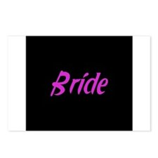 Bride - Fun Pink Postcards (Package of 8)