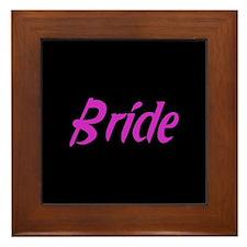 Bride - Fun Pink Framed Tile