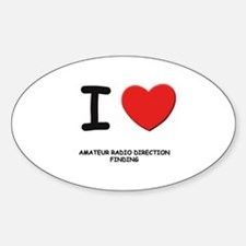 I love amateur radio direction finding Decal