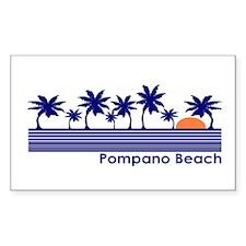 Pompano Beach, Florida Rectangle Decal