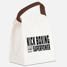 Kick Boxing Is My Superpower Canvas Lunch Bag