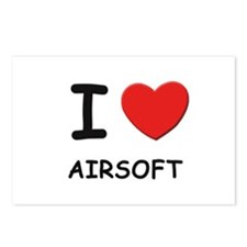 I love airsoft  Postcards (Package of 8)