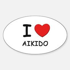 I love aikido Oval Decal