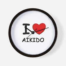 I love aikido  Wall Clock