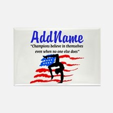 AMERICAN GYMNAST Rectangle Magnet