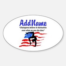 AMERICAN GYMNAST Sticker (Oval)