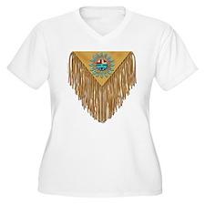 Hopi Sunface Leather Yoke T-Shirt
