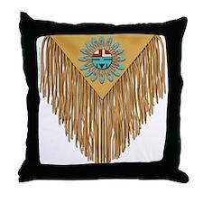Hopi Sunface Leather Yoke Throw Pillow