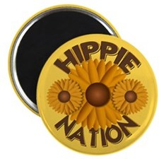 Hippie Nation Yellow Daisy Magnet
