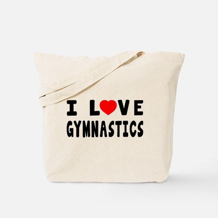 I Love Gymnastics Tote Bags
