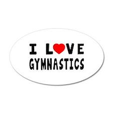 I Love Gymnastics Wall Decal