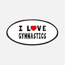 I Love Gymnastics Patches