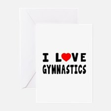 I Love Gymnastics Greeting Cards (Pk of 10)