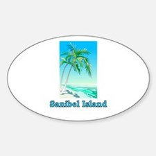 Sanibel Island, Florida Oval Decal