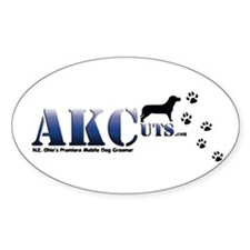AKCuts Oval Decal
