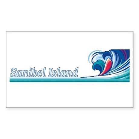 Sanibel Island, Florida Rectangle Sticker