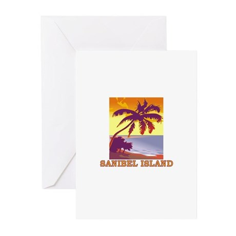 Sanibel Island, Florida Greeting Cards (Package of