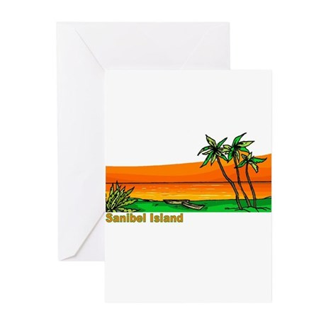 Sanibel Island, Florida Greeting Cards (Package of
