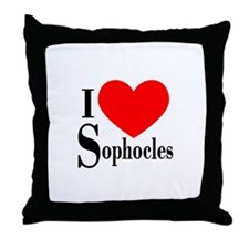 I Love Sophocles Throw Pillow