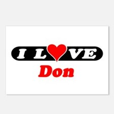 I Love Don Postcards (Package of 8)