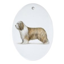 Bearded Collie Oval Ornament