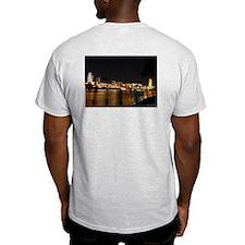 Captain nemo's Sacramento at night Grey T-Shirt