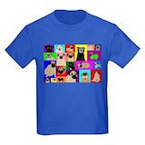Pug Kids T-shirts (Dark)