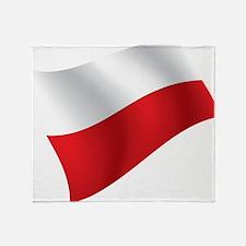 Polish Flag Throw Blanket