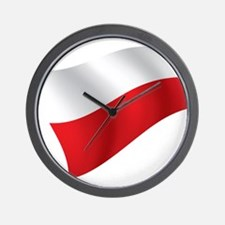 Polish Flag Wall Clock