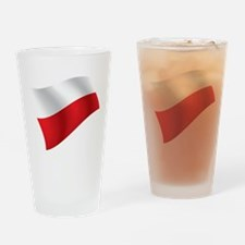 Polish Flag Drinking Glass