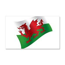 Welsh Flag Car Magnet 20 x 12