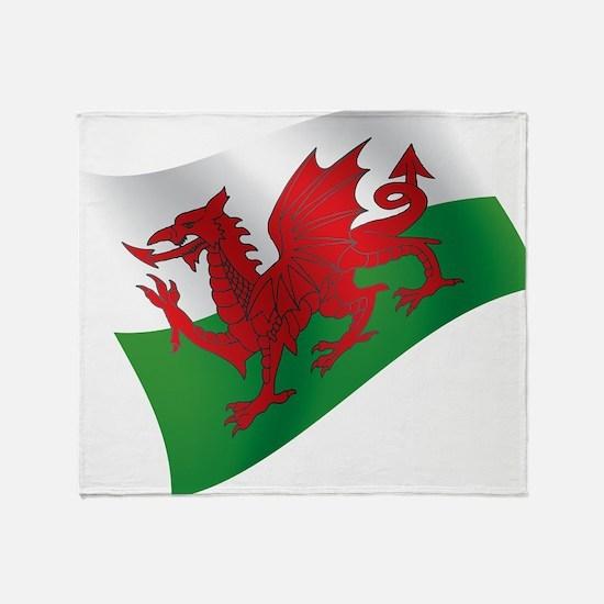 Welsh Flag Throw Blanket