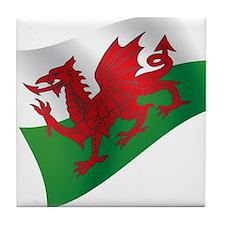 Welsh Flag Tile Coaster