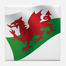 Welsh Flag Tile Coaster