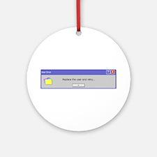 Computer Error Ornament (Round)