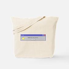 Computer Error Tote Bag