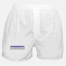 Computer Error Boxer Shorts