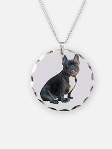 French Bulldog (blk)1 Necklace Circle Charm