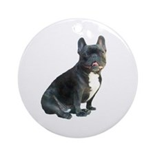 French Bulldog (blk)1 Ornament (Round)