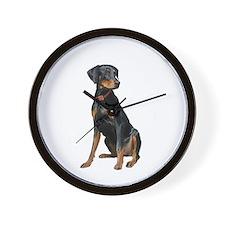 Doberman (nat1) Wall Clock