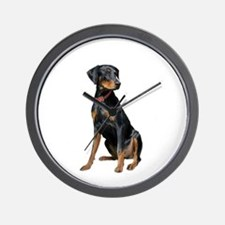 Doberman (nat1) Wall Clock