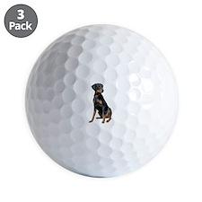 Doberman (nat1) Golf Ball
