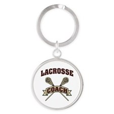 Lacrosse Coach Round Keychain