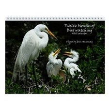 Twelve Months Of Bird Watching Wall Calendar
